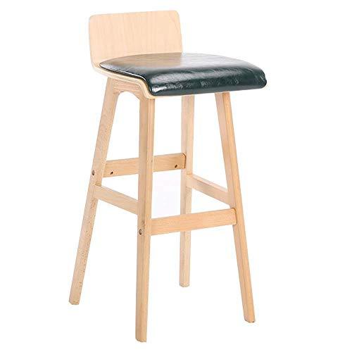 JIAYIBAO Bar Chair Kitchen Chair Modern bar Stool backrest Solid Wood high Stool bar Furniture Bearing Weight 150kg high 65 / 75cm