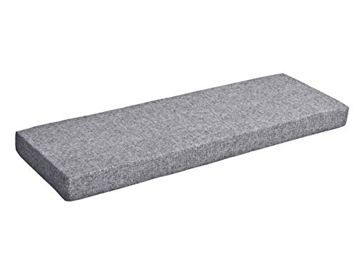 Sincere Custom Size High Density Upholstery Foam Cushion Seat Pads, Patio Bench Seating Cushion, Indoor Sofa Couch Cushion Bay Window Seat Cushion Bench Pad