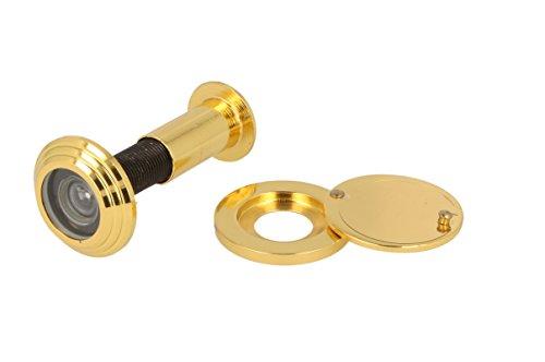 Türspion Türgucker Spion verschiedene Farben für Türstärke 55mm - 80mm (Gold Optik)