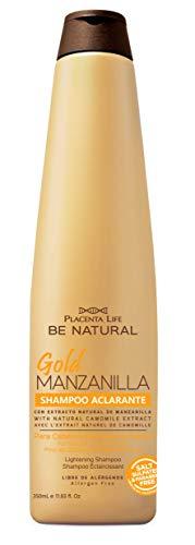 Be Natural, Gold Manzanilla, Champú Aclarante para el cabello, 350ml