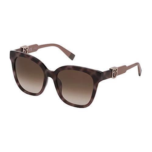 FURLA Sonnenbrille SFU338 096N 54-18-140 Damen Havanna Grau glänzend Gläser Braun Gradient