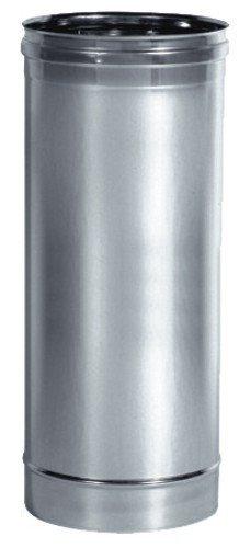 Articolo fumisteria Linea'Legna' e'pellet': elemento lineare T100 acciaio inox,diametro 80, lunghezza 1mt