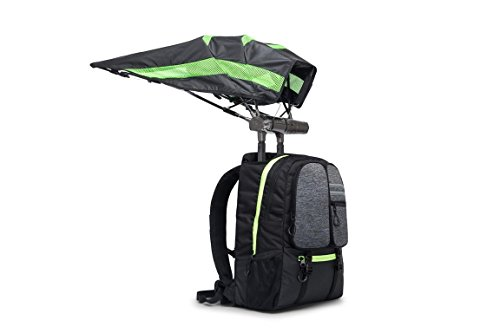 FUNSHELL Laptop Backpack for Men Women Fits 15.6 Inch Laptop, Built in Umbrella, Speakers with Bluetooth Controller, USB Port, Water Resistant Casual Daypack Travel School College Business Commute