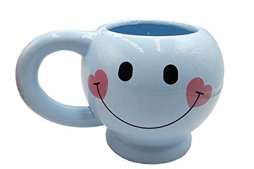 Blue Smiley Face Mug - Happy Face Coffee Mug Smiley Cup