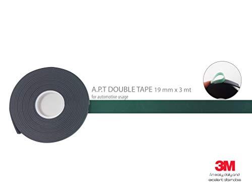 4R Quattroerre.it 1470 Cinta Biadesivo 3M A.P.T. 1500 Pura Potencia Adhesiva 19 mm x 3 mt, Verde