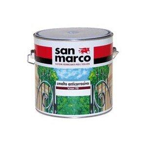 San Marco KIRON 70 Smalto anticorrosivo ad effetto micaceo, colore: Canna di fucile, size: 2,5 lt