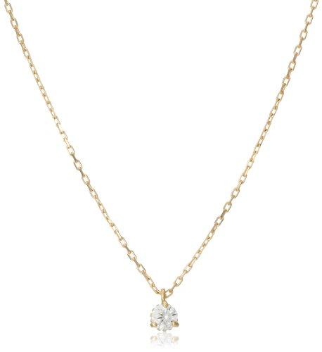 [アガット] ダイヤモンド イエローゴールド K18 ネックレス 1013411611508999