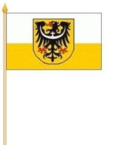 Stockfahne Niederschlesien Fahne Flagge Grösse 30x40cm - FRIP –Versand®