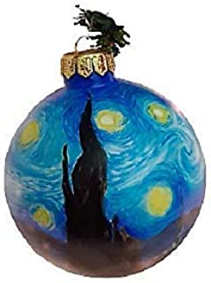 """Palla di Nalate Dipinta a Mano in Ceramica, con copia d'autore""""LA NOTTE STELLATA"""" pezzo unico, Diametro 10 cm, Palla di Na..."""
