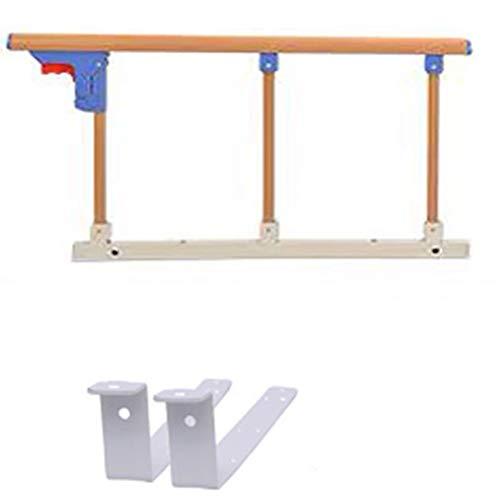 YYFANG Barandilla Cama, Plegable Aleación De Aluminio Seguro Y Estable Anti-caída Adecuado para Ancianos, Niños, Mujeres Embarazadas Y Discapacitados. (Color : Wood-B, Size : 69x40cm)