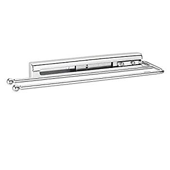 Rev-A-Shelf 563-51-C Under Cabinet Kitchen Bathroom Prong Pull-Out Extendable 2-Prong Towel Bar Organizer Chrome