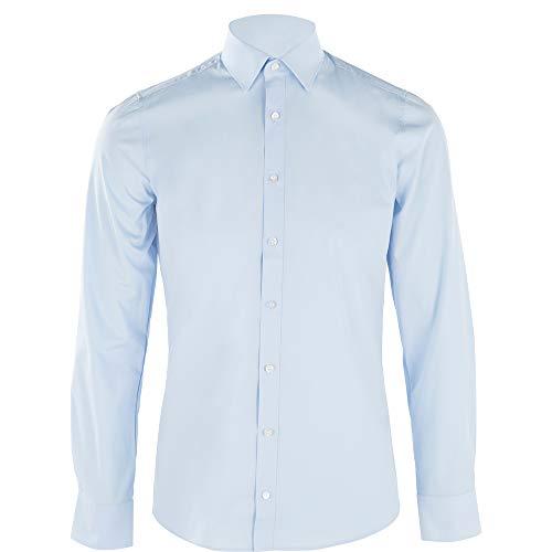 OLYMP Herren Hemd Level 5 Body Fit Signature New York Kent, Größe:41, Farbe:10 hellblau