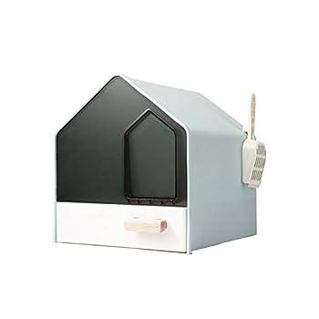 Maisons de toilette Animaux d'animaux Type de tiroir Catter Catter Box entièrement clôturé Toilette Chaton Chaton Bedpans Anti-Splash Pet WC pour 10kg Cat and Puppies Maisons de toilette pour chats