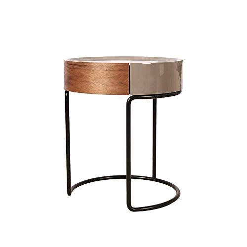 Living Decoration Nachttische Esstisch Nordic Side Kleiner runder Tisch  Sofa Seitenschrank  Leichter Nachttisch  Moderner minimalistischer kleiner Couchtisch  Runder Schreibtisch aus Walnuss
