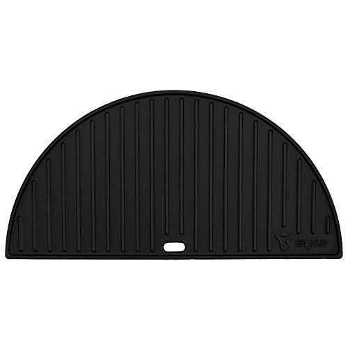 BBQ-Toro Gusseisen Grillplatte für Kamado Keramikgrill (Ø 52 cm) | Wendeplatte, emailliert | beidseitig verwendbar | Kamado Grill Zubehör