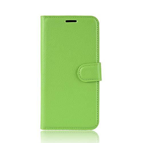 Tasche für Asus ZenFone 3 (5.2zoll) ZE520KL Hülle, Ycloud PU Ledertasche Flip Cover Wallet Hülle Handyhülle mit Stand Function Credit Card Slots Bookstyle Purse Design grün