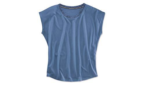 BMW Active Damen T-Shirt mit Rundhalsausschnitt, Blau Gr. S, blau