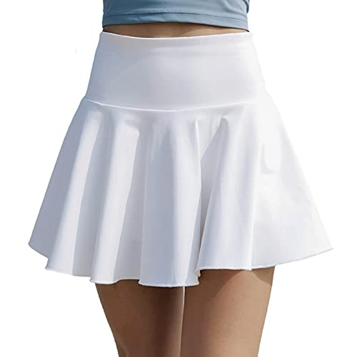 Hhwei Falda De Golf De Tenis con Falda Corta Transpirable Plisada De Verano para Mujer con Bolsillo