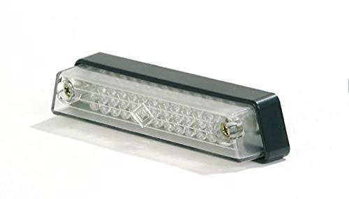 Luz antiniebla trasera LED, lente transparente, marca E