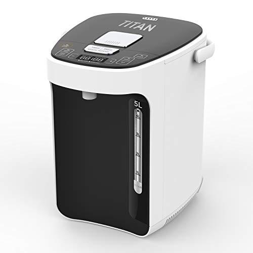 TITAN 2.0 Thermopot 5 Liter | Heißwasserspender | 12 Stunden Timer | Wasserspender | Dispender | Thermoskanne | Teekocher | 3 Möglichkeiten der Wasserentnahme | LC-Display | Kindersicherung