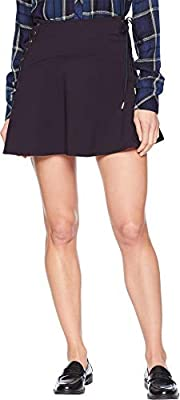 Juicy Couture Womens Knit Lace-Up Ponte Skirt