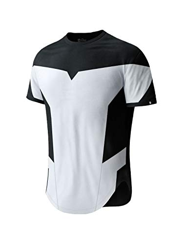 The Souled Store Black & White Mens Solid Cotton Drop Cut T-Shirt