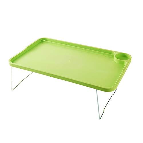 AQHXLS Portable Foldable Laptop Desk, Adjustable Study Desk, Standing Ergonomic Mobile Lazy Laptop Bed for Reading Convenience (Color : Green)