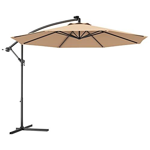 Giantex 10ft Offset Patio Umbrella Cantilever Umbrella,...