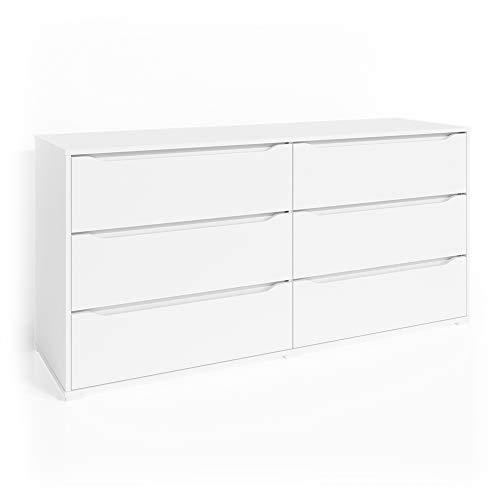 Vicco Kommode Set Ruben Schubladen Sideboard Mehrzweckschrank Schrank (160er, Weiß)