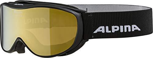 ALPINA CHALLENGE 2.0 Skibrille, Unisex– Erwachsene, black, one size
