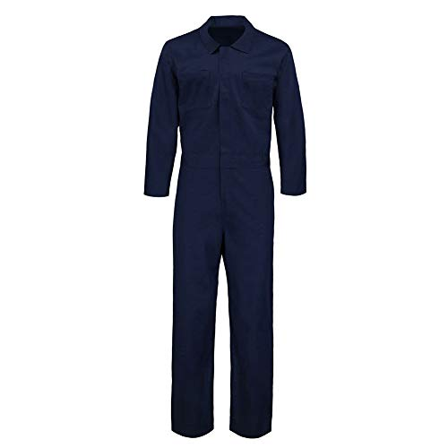 HOMELEX Myers Twill Action Back Coverall Mechanic Clothes Back Coverall Long Sleeve Halloween (M) Blue