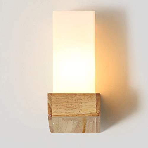 B-D Wandleuchte Wohnwand aus Massivem Holz Wand Gang Schlafzimmer Nachttischlampe