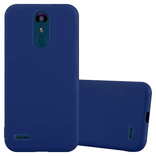 Cadorabo Custodia per LG K8 2018 / K9 2018 in Candy Blu Scuro - Morbida Cover Protettiva Sottile di Silicone TPU con Bordo Protezione - Ultra Slim Case Antiurto Gel Back Bumper Guscio