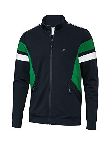 Joy Sportswear Phillip Herren-Trainingsjacke mit Reißverschluss perfekt für Fitnessstudio und Outdoor-Sport, Langarm Zip-Sweatjacke im Retro-Design 52, Night/Cactus