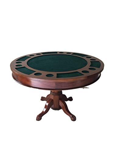 Kunibert Pokerspieltisch Poker/Esstisch Alles in einem Tisch, Massivholz rund Breite120cm