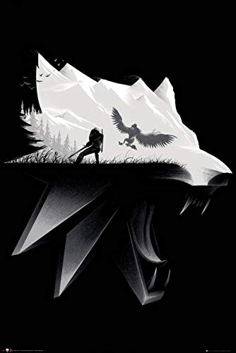 Close Up Póster The Witcher 3: Wild Hunt - Wolf Silhouette (61cm x 91,5cm)