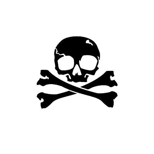 BLOUR Etiqueta engomada del Coche Personalidad Pirata Jolly Roger cráneo PVC Etiqueta engomada de la decoración del Coche Cubierta Impermeable rasguño Negro/Blanco, 15 cm * 14 cm