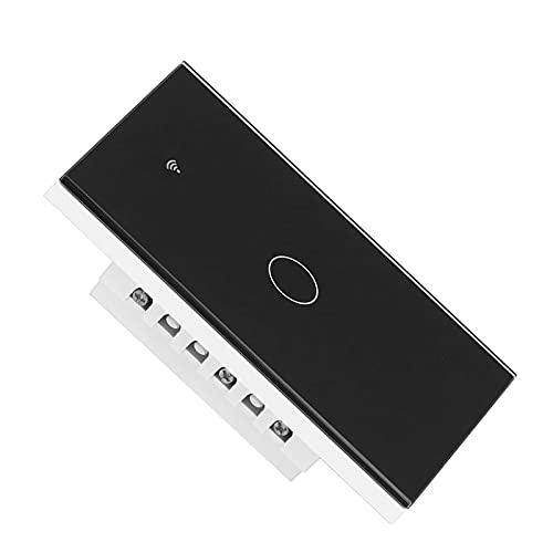 Entatial Interruptor De Un Toque, Interruptor De Luz Inteligente Sin Condensador Control De Voz para Zigbee para Accesorio Eléctrico(Negro)