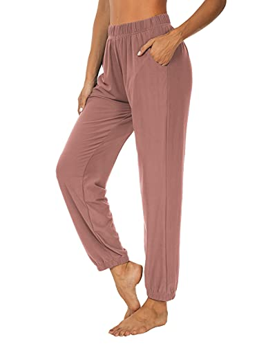 KEEPBEAUTY Womens Active Yoga Sweatpants Loose Workout Joggers Pants Comfy Lounge Pants with Pockets Cameo XL