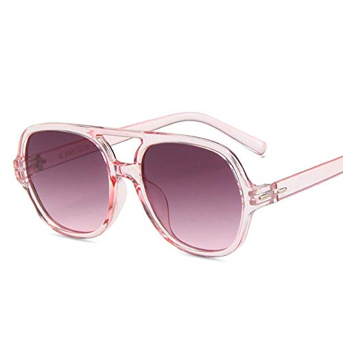 Gafas de Sol de Gran tamaño Mujeres Ocean Gafas de Sol para Mujer Vintage Vintage Gafas de Sol Doble Rosa Adecuado para la Fiesta de Playa Conducción Gafas de Sol Gafas de Golf-Gris Rosado
