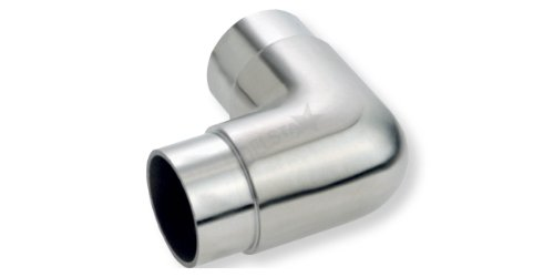 CROSO Rundbogen 90 Grad kurz für Rohr Durchmesser 42,4 x 2 mm, Edelstahl geschliffen V2A, 1 Stück,30500