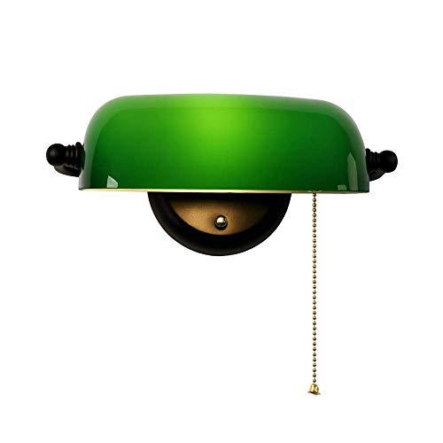 ZHANGYY Vine Europe Green Banker Lámpara de Pared Lámpara de Pared Blanca...