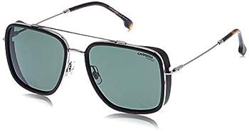 Carrera 207/S Rectangular Sunglasses Ruthenium/Polarized Green 57mm 18mm