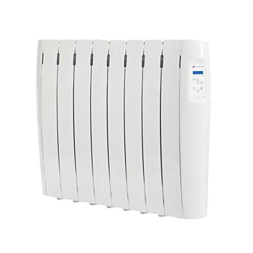 Haverland RC8M - Radiador Digital Fluido Bajo Consumo, 1000 de Potencia, 8 Elementos, Programable, Exclusivo Indicador De Consumo, Pantalla Temperatura Ambiente