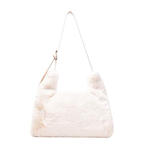 VALICLUD Borsa a Tracolla Borsa a Tracolla in Pelliccia Sintetica Fuzzy Tote Bag Hobo Bag Fluffy Purse Furry Handbag for Women
