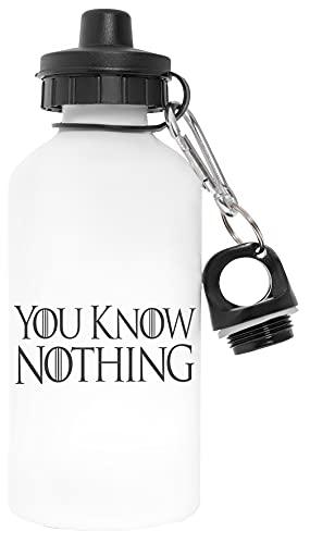 You Know Nothing Libre de Contaminantes Blanco Botella De Agua Aluminio Para Exteriores Pollutant Free White Water Bottle Aluminium For Outdoors