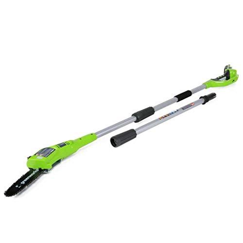 Greenworks Tools Motosierra telescópica inalámbrica de 20cm (Podadora) 24V Li-Ion (sin batería ni cargador) - 2000107, verde