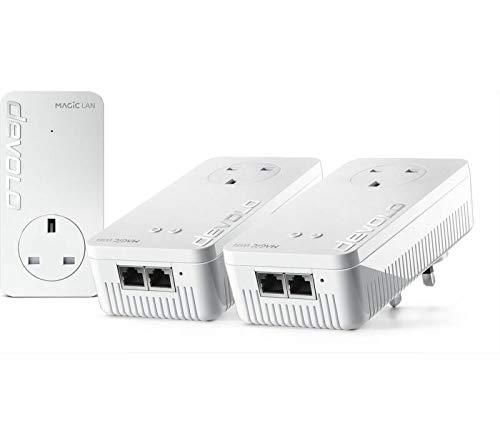 devolo 8627 Magic 2 WiFi 5 Powerline 2400 Netzwerk-Kit mit Pass-Through (1267Mbps AC)