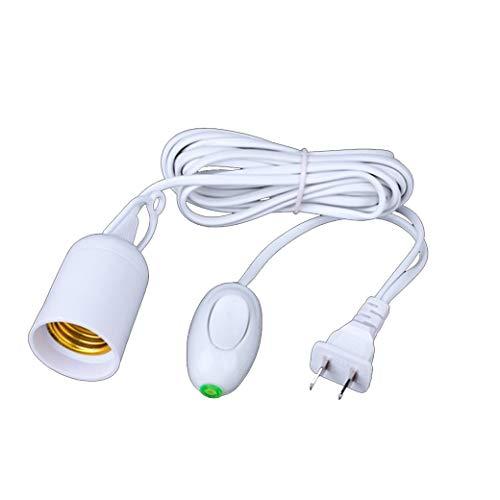QJY verlengsnoer voor hanglamp, simpelweg luxe – verlengstuk hanglantaarn licht-lamp met snoer E26/E27-fitting (geen gloeilamp inbegrepen) aan/uit-schakelaar