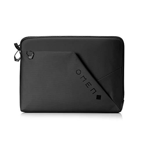 """HP - Gaming OMEN Transceptor Funda para portátil de hasta 15,6"""", Compartimento Suave y Forrado, Bolsillo Organizador, Tela Impermeable y Robusta, Color Negro"""